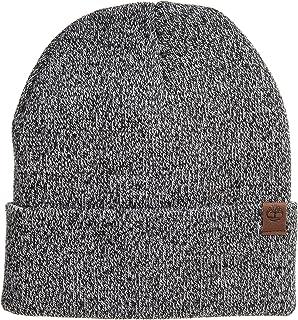 قبعة رجالي Timberland Marled Cuffed Beanie Hat أسود/رمادي