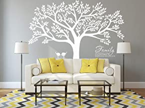 LUCKKYY Grant Family Tree Wall Decal with Family Like Branches on a Tree Wall Decal Sticker Quote Wall Decorations for Living Room(108
