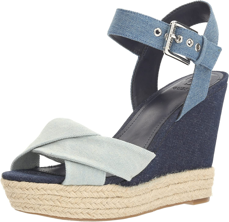 GUESS Womens Sanda Wedge Sandal