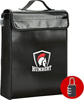 Fireproof Lock Box Bag - Fireproof Document Bags - Fire Box for Documents, File, Money, Passport, Valuables - Fireproof Sa...