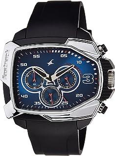 ساعة بمينا لون ازرق وعرض كرونوغراف للرجال من فاست تراك