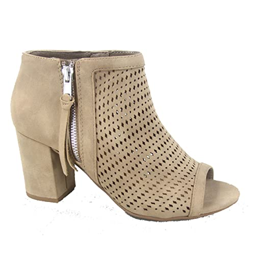 luxuriant in design beautiful and charming latest style of 2019 Beige Open Toe Booties: Amazon.com