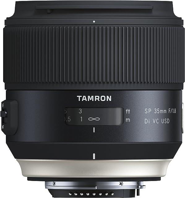 Tamron SP - Objetivo para Nikon DSLR (Distancia Focal Fija 35 mm Apertura f/1.8 Di VC USD diámetro Filtro: 67 mm) Negro
