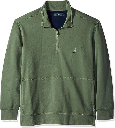 Nautica Hommes's Big and Tall Basic manche longue 1 4 Zip Fleece Sweatshirt, Pine Forest, 5X