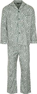 Champion Mens Paisley Warm Brushed Long Cotton Pyjama Sleepwear Nightwear