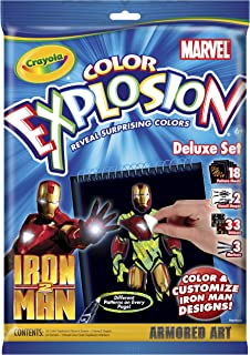 Crayola Color Explosion Iron Man 2 Markers & Paper
