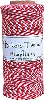 Hemptique bts2red-w Baker's Twine Spool 50-Gram, Red