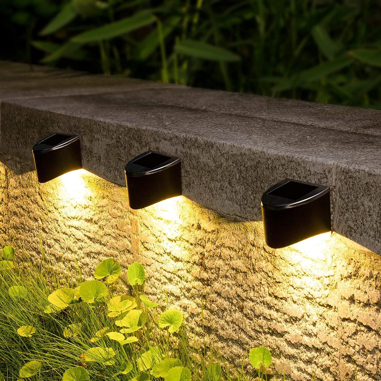GIGALUMI Solar Step Lights Outdoor Pack Li Deck 8 Powered Genuine Financial sales sale