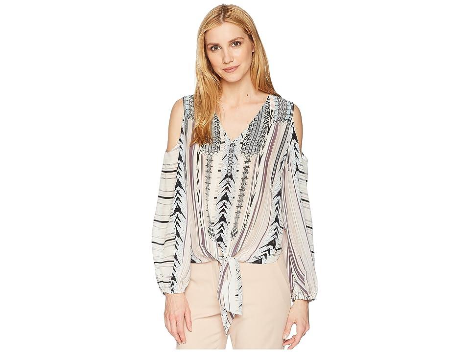 Hale Bob Travel Bright Sandwashed Silk Tie Top (Beige) Women