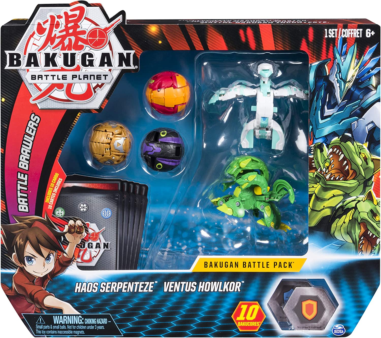 Bakugan Battle 5Pack Haos Serpenteze & Ventus Howlkor Collectible Cards & Figures