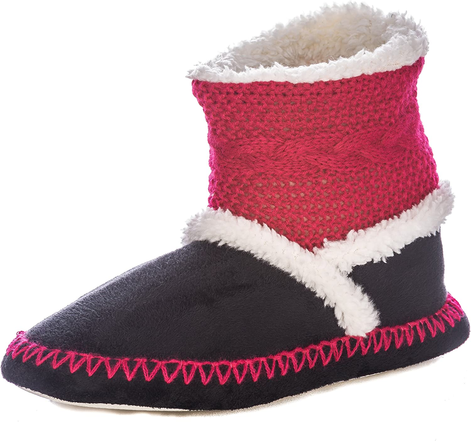 Noble Mount Womens Eskimo Indoor Short Boot Slippers