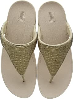 Fitflop Lottie Shimmercrystal Sandal Women, Gold, 40 EU