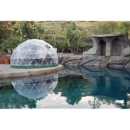 "Sonostar Hub - Standard 1/2"" PVC Bubble Dome Kit - 11.75' Dining Dome, Dining Pod, Patio Dome, Greenhouse, Gazebo, Play Area (PVC, White)"