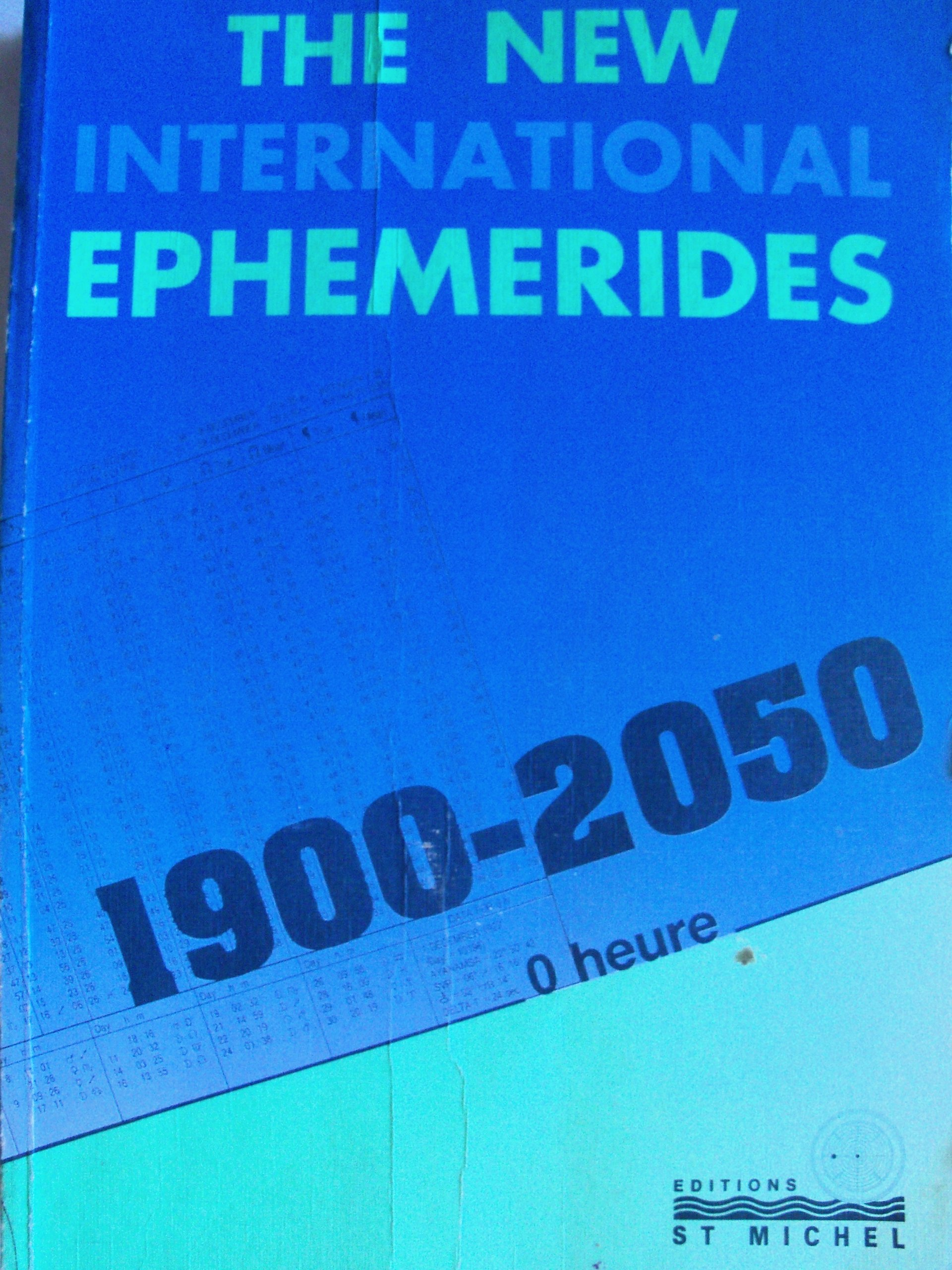 The New International Ephemerides, 1900-2050