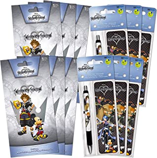 Kingdom Hearts Party Supplies Bundle - 18 Pc Deluxe Kingdom Hearts Party Favor Kit with Kingdom Hearts Pens, Bookmarks, an...