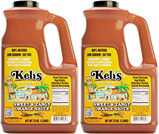 Keli's Sweet & Tangy Orange Sauce. Vegan Polynesian Sweet & Sour, Soy Free Creamy Salad Dressing, Glazing and Dipping Sauce with a hint of Mustard. All Natural, Gluten Free & No Preservatives. (72oz)