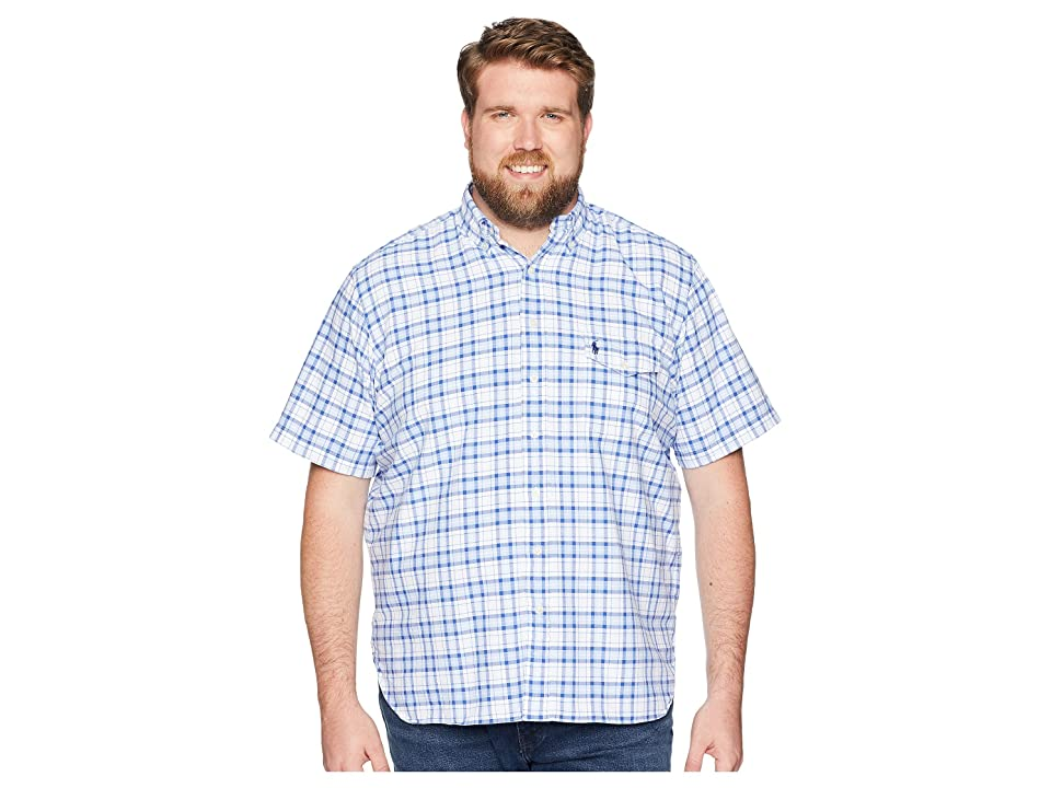 Polo Ralph Lauren Big & Tall Big Tall Oxford Button Down Sport Shirt (Marian Blue Mutli) Men