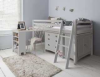 Cama con escritorio, cómoda y armario