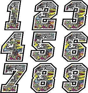 Numeri Adesivi Moto Cross - da 3 a 22 cm - STICKER BOMB - Motocross Sponsor Auto Marche Famose