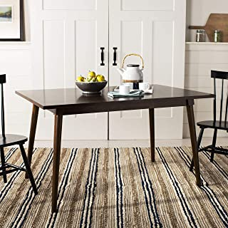 Safavieh Home Collection Tia Rectangle Dining Table, Walnut