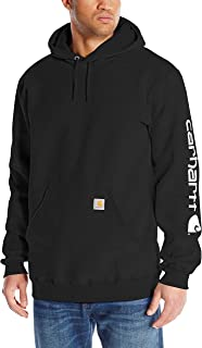Men's Midweight Sleeve Logo Hooded Sweatshirt (Regular...