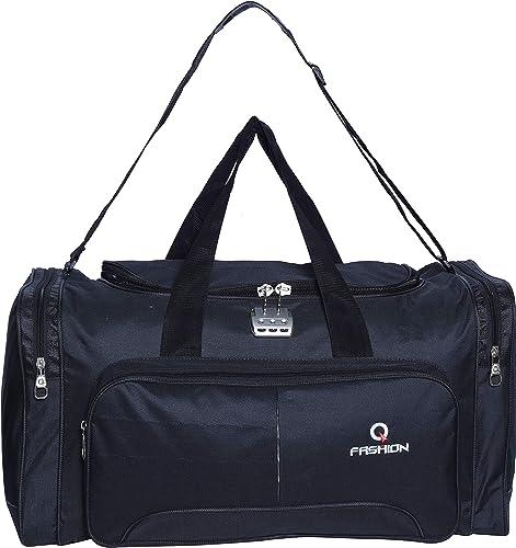 Waterproof Polyester Lightweight Black Duffle Soft Sided 65L Travel Duffel Bag