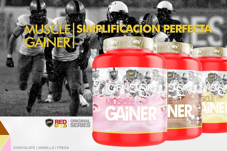 MTX nutrition IsoLeanGAINER Ganator [4 Kg.] Chocolate Suplemento PREMIUM proteínas de suero con carbohidratos avanzados, Ganancia de Peso Muscular