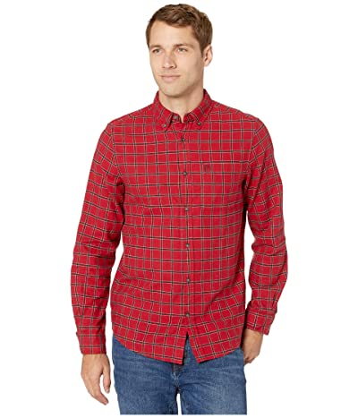 Fjallraven Ovik Flannel Shirt (Deep Red) Men