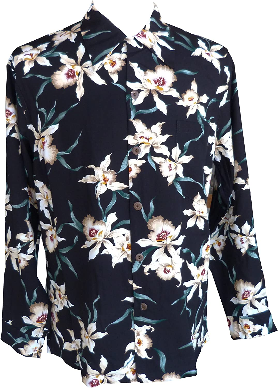 Paradise Found Tulsa Mall Mens Star Orchid Opening large release sale Shi Style Long Sleeve Kamehameha
