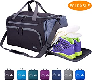Venture Pal Packable Sports Gym Bag Wet Pocket & Shoes Compartment Travel Duffel Bag Men Women