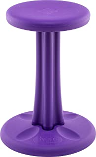 Kore Pre-Teen Wobble Chair - Flexible Seating Stool for Classroom, Home & School, ADD/ADHD - Made in USA - Age 10-11, Grade 5-6, Purple (18in)