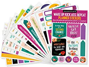 Essentials Planner Stickers - Wake Up Kick Ass (Set of 150 Stickers)