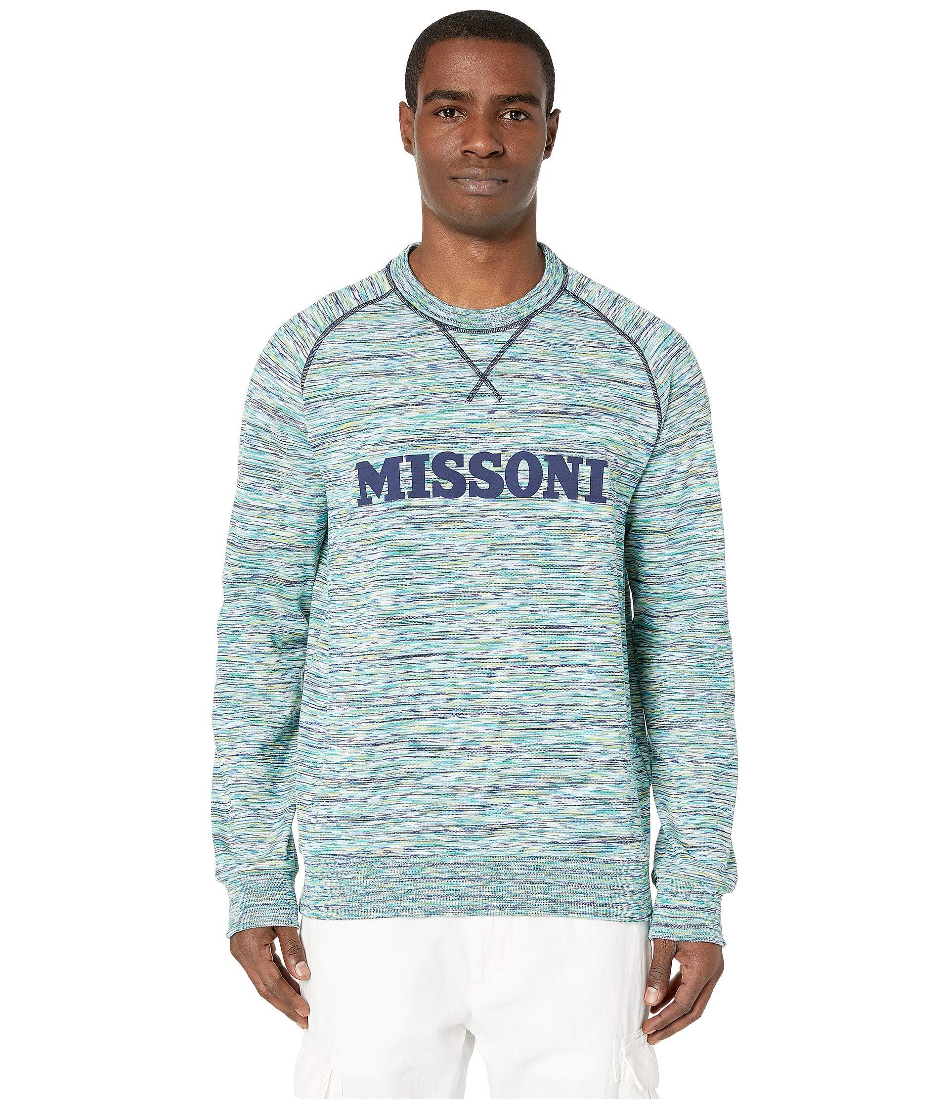 Sweatshirt Fiammato Multi Missoni Missoni Fiammato Sweatshirt Green Green w8x8Xzqnp