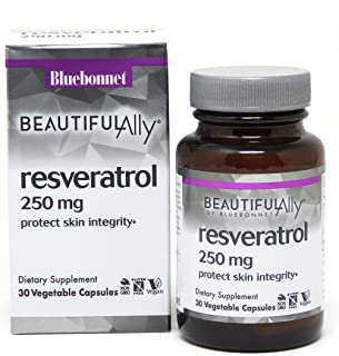 Bluebonnet Nutrition Beautiful Ally Resveratrol 250mg Vegetarian Casules, 30 count