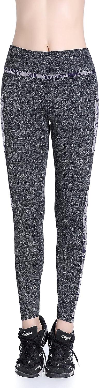 EAST HONG Womens High Waist Running Yoga Sport Gym Equestrian Leggings Exercise Pants 2 Side Pockets