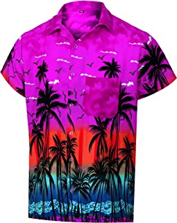 Hawaiian Shirts for Men Casual Button Down Short Selvee Beach Party Alloha Shirt