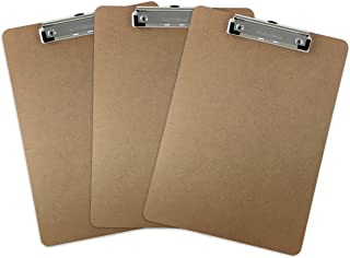 Trade Quest Letter Size Clipboard, Low Profile Clip (Pack of 3)
