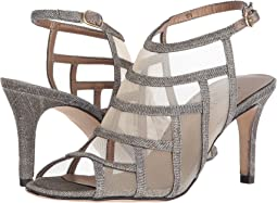 Platinum Nizza Fabric/Beige Mesh/Gold Buckle