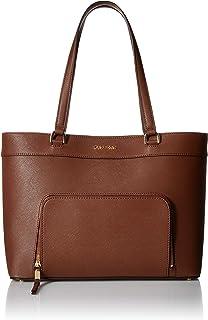 Calvin Klein womens Calvin Klein Louise Saffiano Leather Key Item Tote
