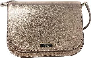 Kate Spade New York Large Carsen Laurel Way Leather Crossbody Bag in Rose Gold