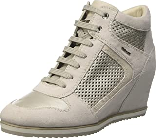 GEOX Womens Trainers D Illusion B Suede and Leather Wedge Boots