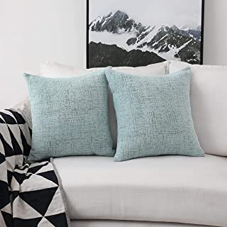 Home Brilliant Deocrative Pillow Covers for Couch Sofa Bench, 2 Packs, 18x18 inches, Teal