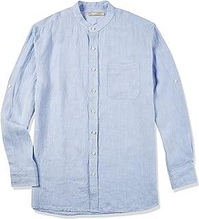 Best mens long sleeve banded collar shirt Reviews