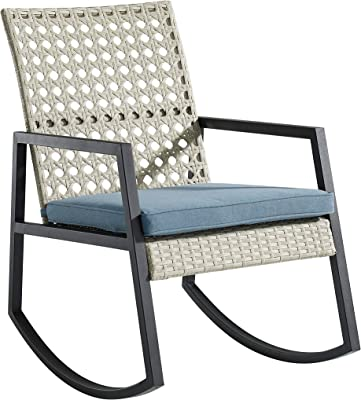 Fabulous Amazon Com Unicoo Rocking Chair With Pillow Padded Camellatalisay Diy Chair Ideas Camellatalisaycom