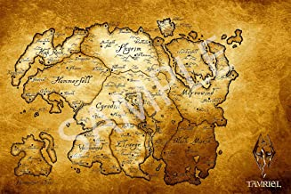 Best Print Store - The Elder Scrolls V, Skyrim, Map of Tamriel Poster (13x19 inches)