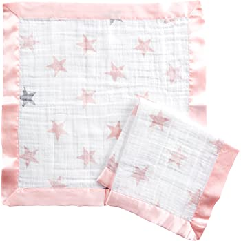 aden by aden + anais issie security blanket, 100% cotton muslin, 2 pack, doll