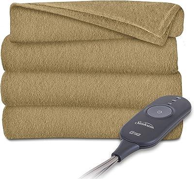 Sunbeam Heated Throw Blanket Fleece Imperial Plush Electric Assorted Colors  (Deep Nutty Brown ACRON 88576ffad