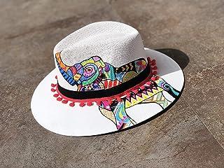 SOLSTIZO Sombrero Panamá Elefante Mandala