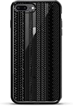 TIRE TRACKS | Luxendary Chrome Series designer case for iPhone 8/7 Plus in Titanium Black trim