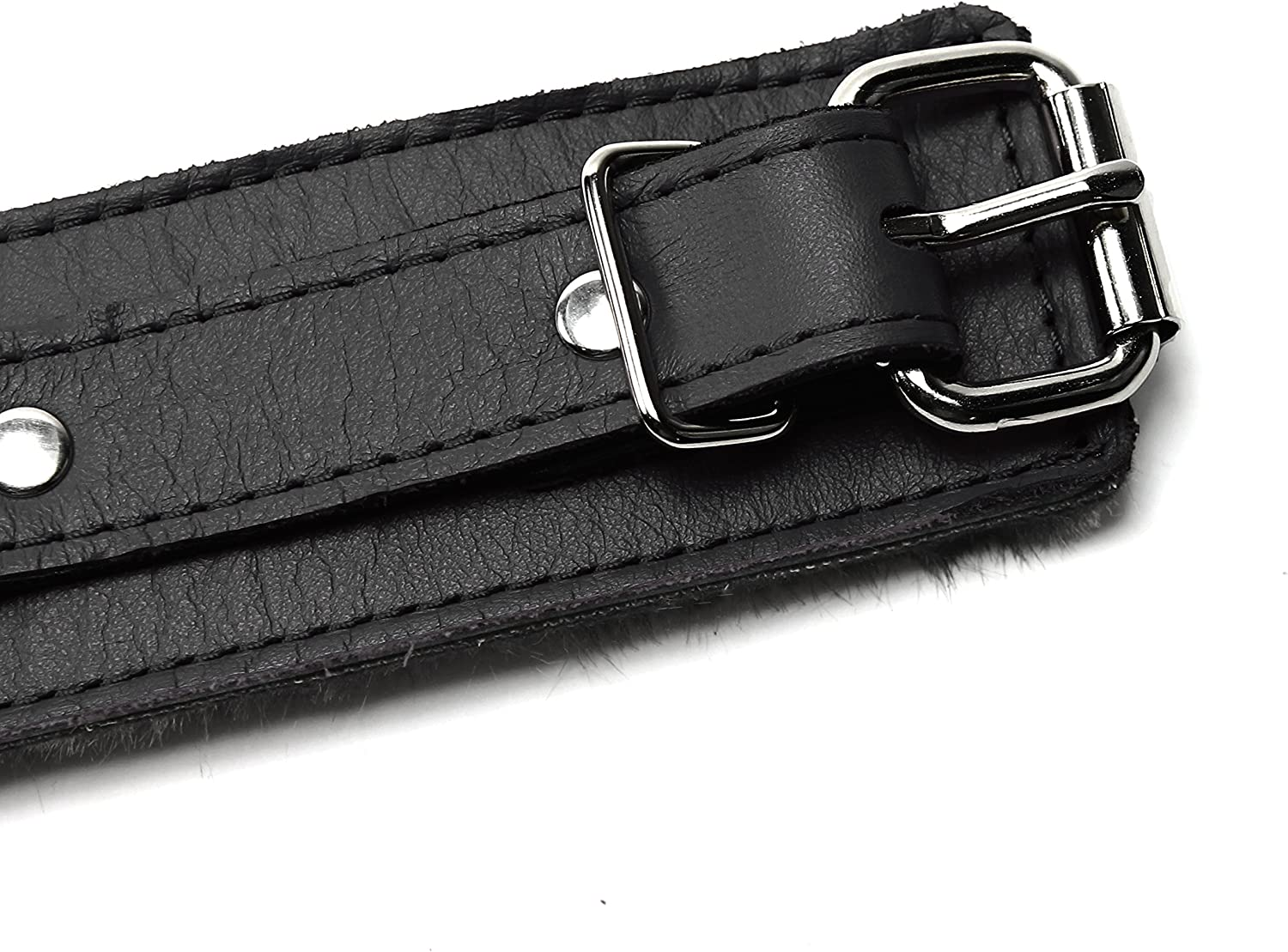 Deep Black, Ankle Barcelona Wrist and Ankle Cuffs Soft Lamb Hide Natural Leather